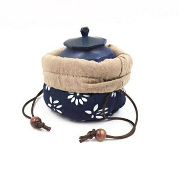 Teaware Bag | Indigo Flowers | TF35E