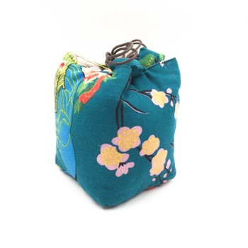Floral Peacock Teaware Bag   Turquoise   TF15