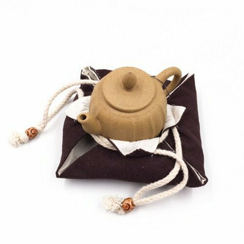 Drawstring Teaware Bag | Small | Brown |  TF36A