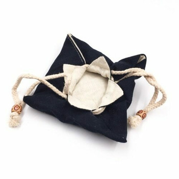 Drawstring Teaware Bag | Small | Indigo |  TF36B