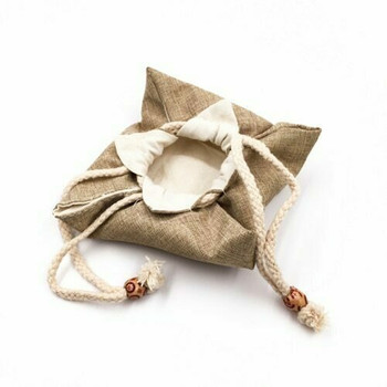 Drawstring Teaware Bag | Small | Sand |  TF36C