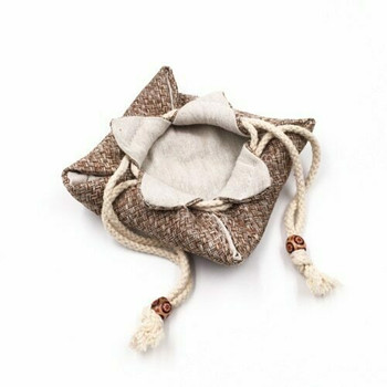 Drawstring Teaware Bag | Small | Basket Weave |  TF36D