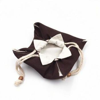 Drawstring Teaware Bag | Medium | Brown | TF38A