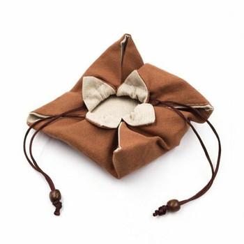 Drawstring Teaware Bag | Medium | Ochre | TF38B