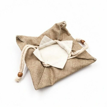 Drawstring Teaware Bag | Medium | Sand | TF38C
