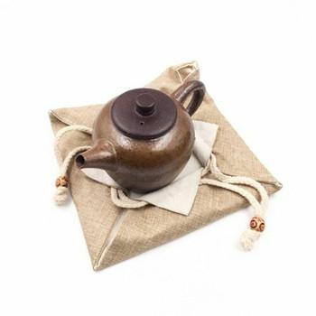 Drawstring Teaware Bag | Medium | Sand | TF38C