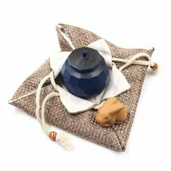 Drawstring Teaware Bag | Large | Basket Weave | TF37B