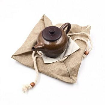 Drawstring Teaware Bag | Large | Sand | TF37C