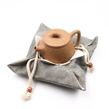 Drawstring Teaware Bag | Large | Sea Foam | TF37D