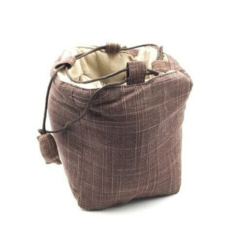 Teaware Bag   Large   Brown   TF12