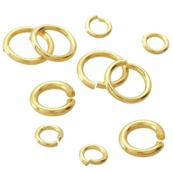 18K Yellow Gold 20ga Round Jump Ring | 3.7mm OD | 2.4mm ID | 650353