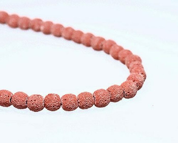 "Round Burgundy (Dyed) Sponge Coral Beads 10mm | Sold By 1 Strand(7.5"") 