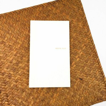 "Gold ""Note For"" Basic Notebook 
