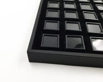 Black Gemstone Display Box | Small Compartments | GSB02