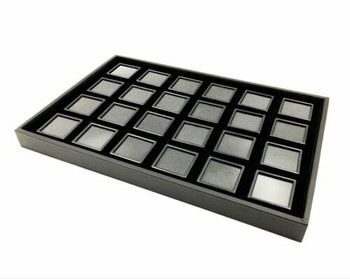 Black Gemstone Display Box | Medium Compartments | GSB03