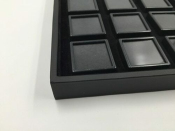 Black Gemstone Display Box | Medium Compartments | GSB03