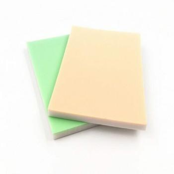 Rubber Cut Plate | Pastel/White | 10.3 x 7.1 cm | YX0004