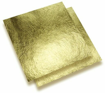 24K Gold Leaf Thick Foil, 93 x 93 mm, Unit: sheet | NJGF105