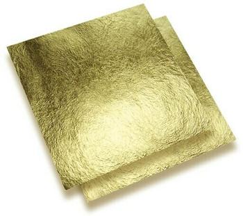 24K Gold Leaf Super Thin Foil, 25x25 mm, Unit: sheet | NJGF25