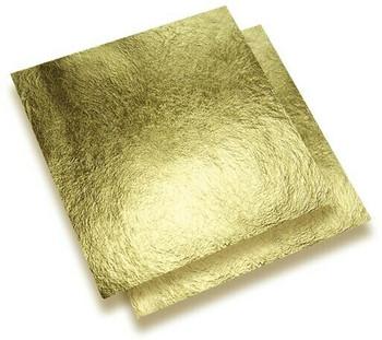 24K Gold Leaf Super Thin Foil, 25x25 mm, Unit: sheet | NJGF25