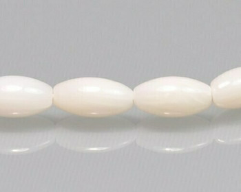 "Barrel Ivory Tridacna Shell Beads 4x8mm | Sold By 1 Strand(7.5"") 