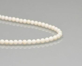 """Round Ivory Tridacna Shell Beads 4mm   Sold By 1 Strand(7.5"""")   BS0041"""