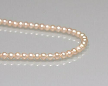 "Round Peach Freshwater Pearls 4mm | Sold By 1 Strand(7.5"") 