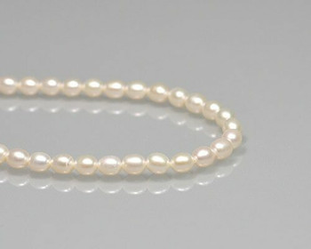 "Oval Neutral Freshwater Pearls 5x6mm | Sold By 1 Strand(7.5"") 