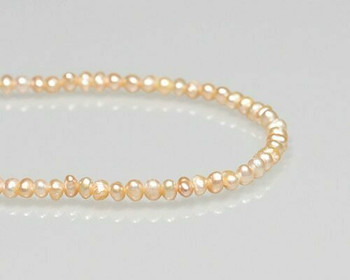 "Near Round Peach Freshwater Pearls 3-4mm | Sold By 1 Strand(7"") 
