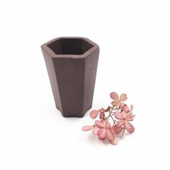 Hexagonal Yixing Plant Pot | 6 x 5 cm | XXZ23