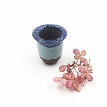 Mini Plant Pot | 4.5 x 4 cm | Blue Dip | XXZ36