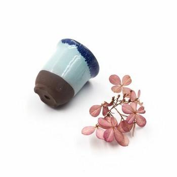Mini Plant Pot   4.5 x 4 cm   Blue Dip   XXZ36