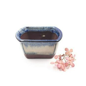 Small Plant Pot | 9 x 6 x 4.5 cm | Frost Blue | XXZ39