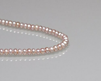 "Rondelle Pink Freshwater Pearls 3x5mm | Sold By 1 Strand(7.5"") 