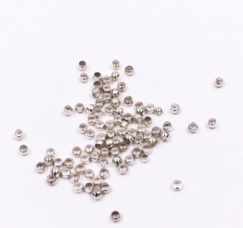 Base Metal Silver Finish 2mm Crimp Beads | Sold by 20Pc/Pk | BMCB04