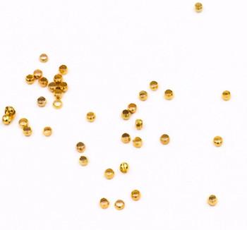 Base Metal Gold Finish 1.5mm Crimp Beads | Sold by 20Pc/Pk | BMCB06