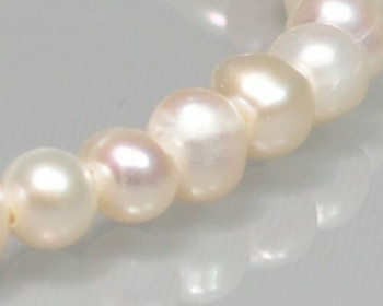 "Near Round Neutral Freshwater Pearls 4-5mm | Sold By 1 Strand(7.5"") 