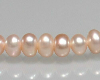 "Near Round Peach Freshwater Pearls 4-5mm | Sold By 1 Strand(7"") 