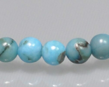 """Round Blue Opal Beads 4mm 