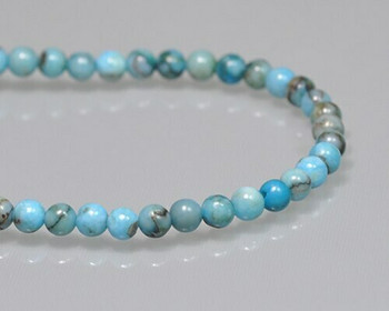 "Round Blue Opal Beads 4mm | Sold By 1 Strand(7.5"") 