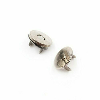Magnetic Clasp for Bookbinding & Bag Making | 1.4mm | White Gold Finish | Sold by Set | Bulk Prices Available |  MGC14W