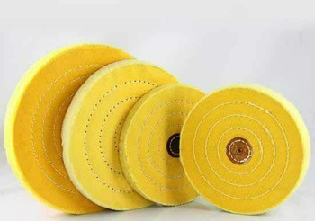"Yellow Treated Buffing Wheel 3""(7.5cm) 40 Ply 