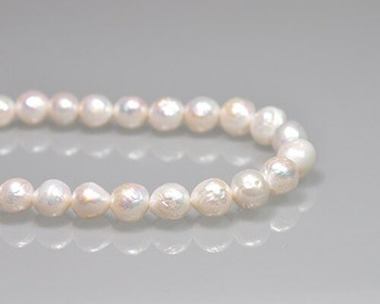 "Near Round Freshwater Neutral Pearls 10mm | Sold By 1 Strand(7.5"") 