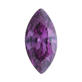 Purple CZ 6 x 3mm Marquise Faceted Stone | Sold by Each | 79979