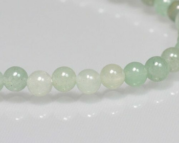 "Round Light Green Aventurine Beads 4mm | Sold by 1 Strand(7.5"") 