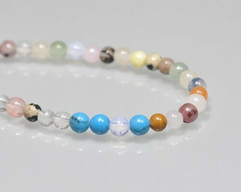 """Round Mix Colour Semi-gem Beads 4mm 