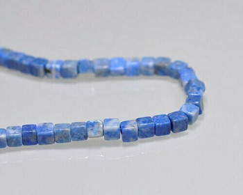 "Cube Lapis Lazuli Beads 4mm | Sold by 1 Strand(7.5"") 