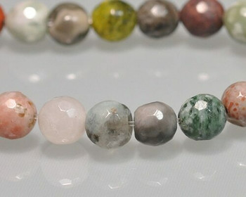 "Faceted Mixed Colour Semi-Gem Beads 7mm | Sold by 1 Strand(7.5"") 