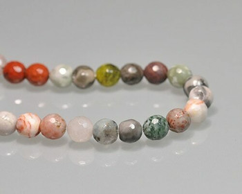 """Faceted Mixed Colour Semi-Gem Beads 7mm   Sold by 1 Strand(7.5"""")   BS0082"""