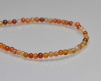 "Round Red Mixed Agate Beads 3-3.5mm | Sold by 1 Strand(7.5"") 